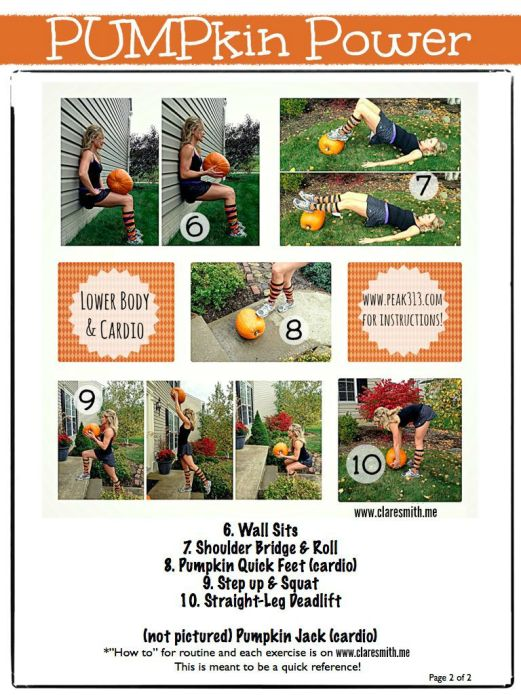 Pumpkin Power Page 2 of 2: Full routine on www.claresmith.me