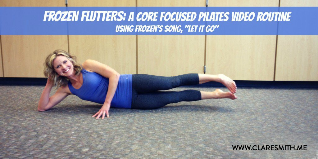 """Frozen"" Flutters Video (Core Focused Pilates Routine) & Bday Giveaway!"