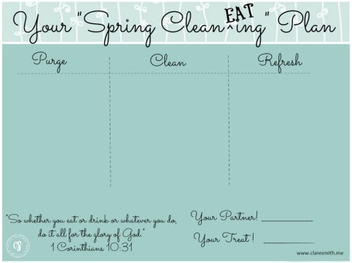 SpringCleanEating Plan2015: www.claresmith.me