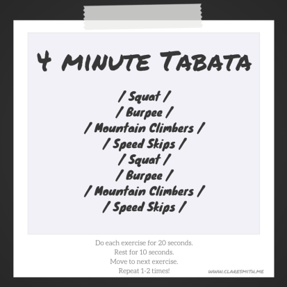 4 minute bodyweight tabata claresmith.me