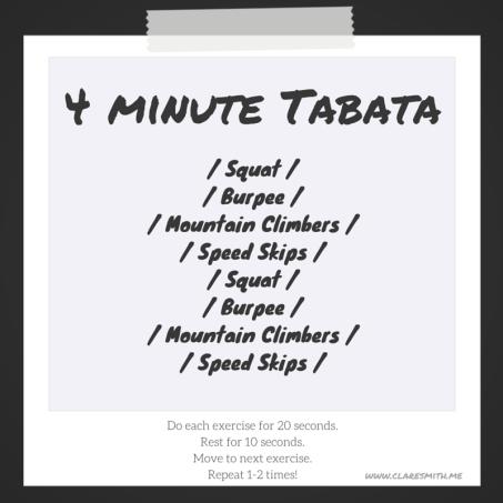 4 minute bodyweight tabata : claresmith.me
