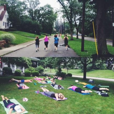 pilates/running class