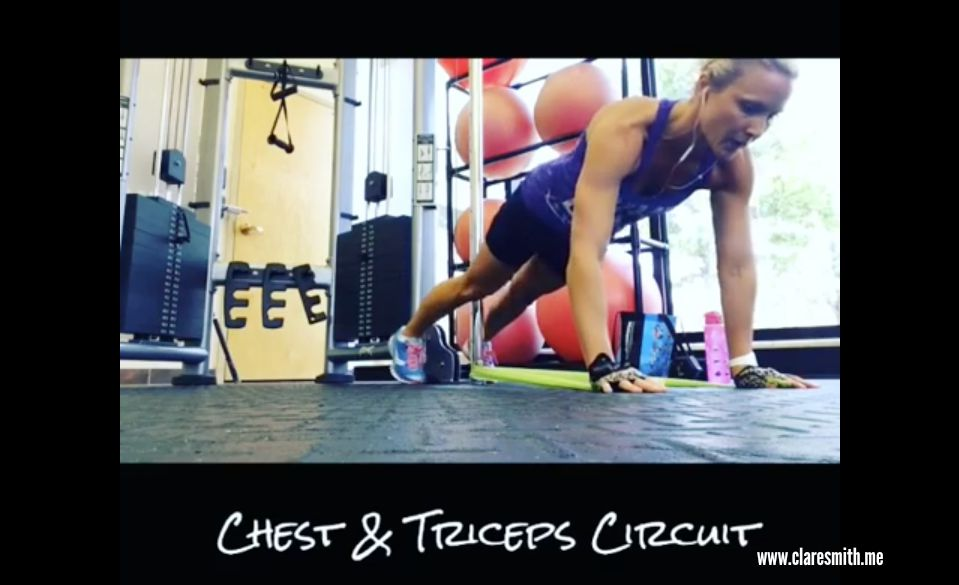Video: Chest & Triceps Circuit (with band)