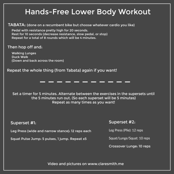 Hands-Free Lower Body Workout : www.claresmith.me