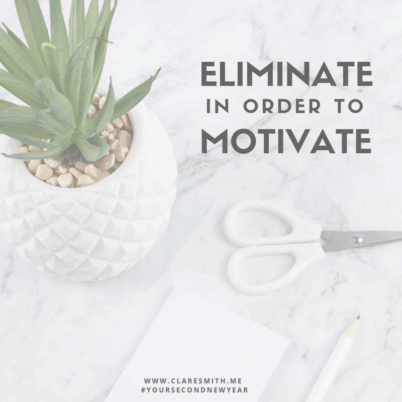 Your Second New Year: Eliminate In Order To Motivate