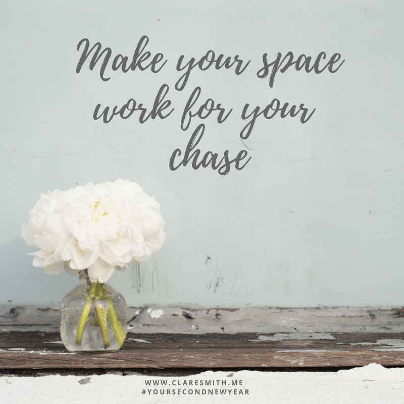 Your Second New Year: Make your space work for your chase