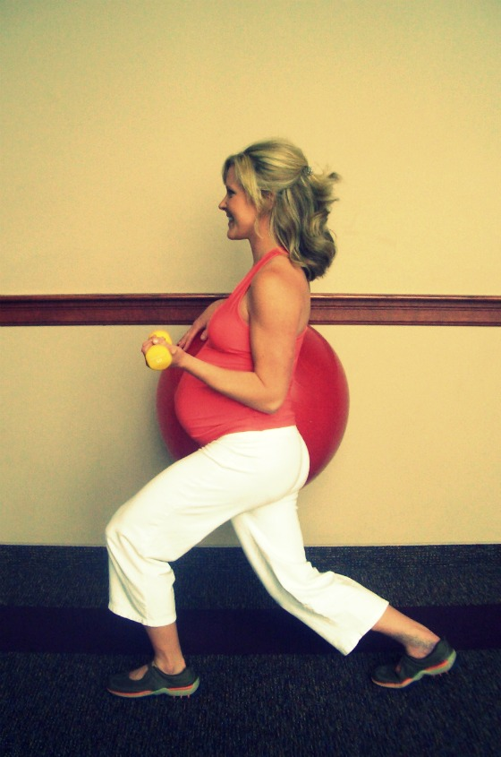 New Move Monday: Wall Lunge w/Ball (pregnancy) : peak313.com