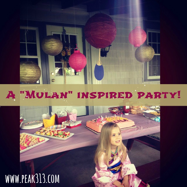 A Mulan Inspired 4th Birthday Party