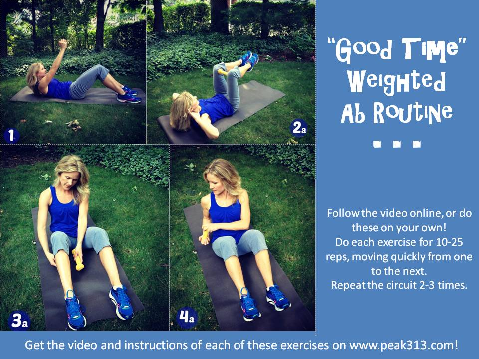 photograph relating to Printable Ab Workouts called Beneficial Period\u201d Weighted Ab Program (Movie Printable!)