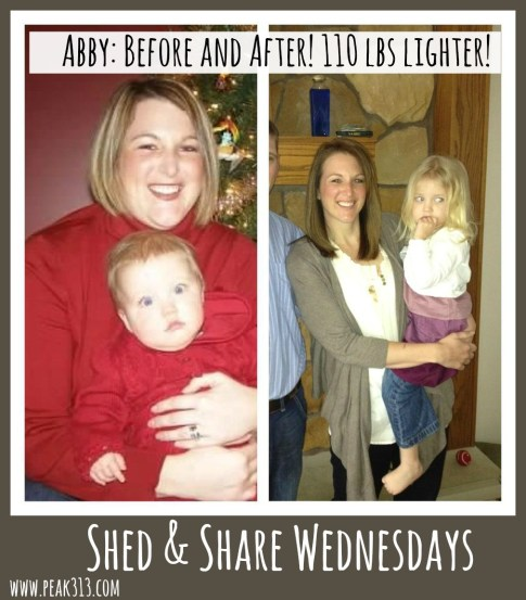 Shed & Share Wednesdays: Meet Abby V! (She's lost over 110 lbs!) | peak313.com