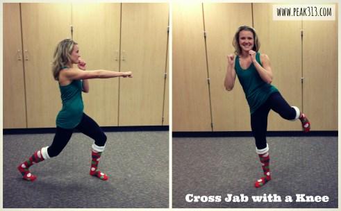Cross Jab with a Knee | peak313.com