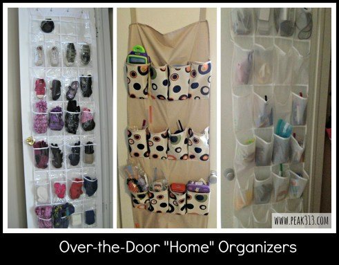 "Over-the-Door ""Home"" Organizers : peak313.com"