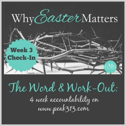 The Word and Work-Out: Week 2 Check-In (Why Easter Matters) : peak313.com