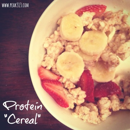 "Recipe: Protein ""Cereal"" 