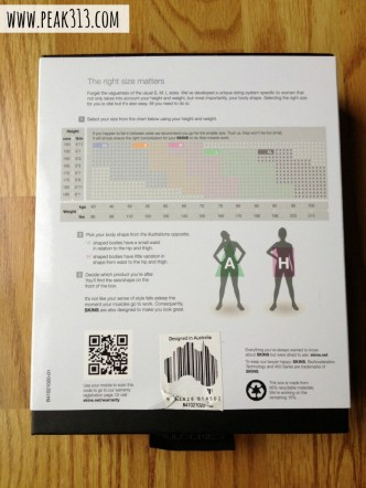 SKINS Compression Clothing Sizing : peak313.com