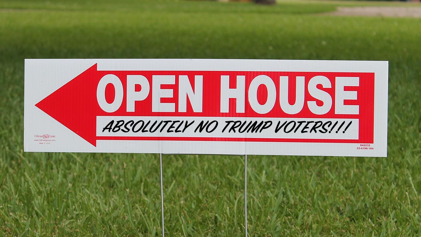 Real Estate Discrimination Trump Voters