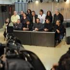 a Union de Trabajadores de la Educacion (UTE) anuncio un paro y movilizacion para este viernes 31 en repudio a la sancion aplicada a seis docentes. (Alfredo Martínez)