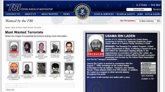 El terrorista más buscado con una recompensa de 25 millones.