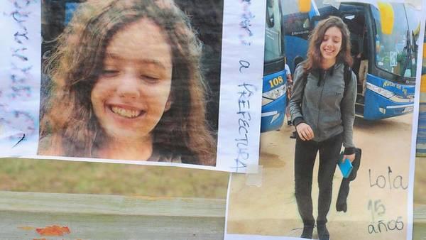 Las fotos de Lola Luna Chomnalez, las que se habían repartido durante su búsqueda. (Leandro Monachesi)