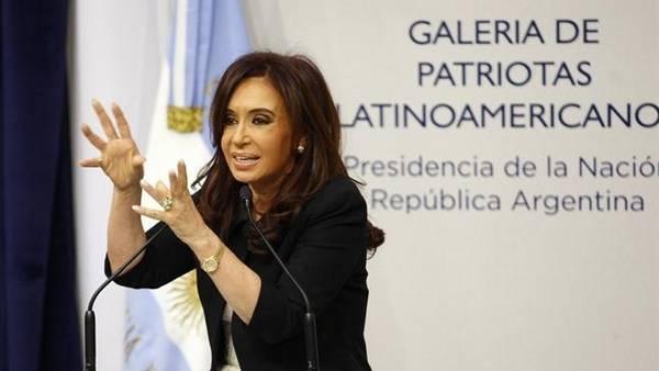 Cristina Kirchner en un reciente acto en la Casa Rosada.