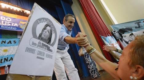Guillermo Moreno, en un acto de campaña en Rosario, días atrás.