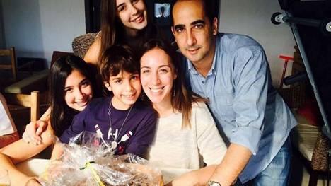 María Eugenia Vidal y su familia