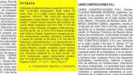 La empresa que crearon Moreno y Milani.