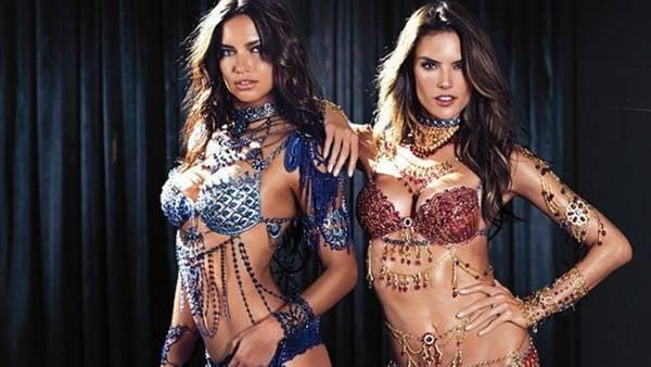 Adriana Lima y Alessandra Ambrosio serán las encargadas de lucir el Fantasy Bra en el Victoria's Secret Fashion Show, corpiños valuados en dos millones de dólares.