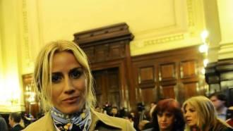 Maria Belén Rodríguez en la audiencia de la Corte Suprema contra Google. (María Eugenia Cerutti)