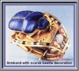 Bracelet with scarab beetle decoration