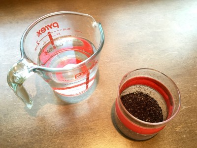 Water and Grounds for French Press