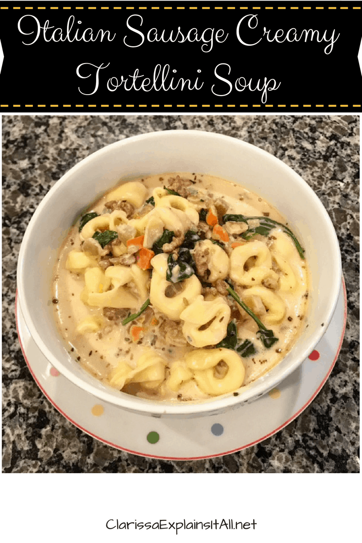 Recipe For Italian Sausage Creamy Tortellini Soup