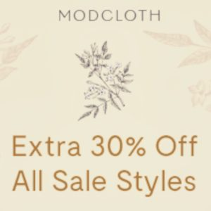 What's Better Than One Great Sale At Modcloth?