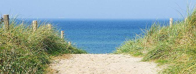Blick über die Dünen aufs Meer