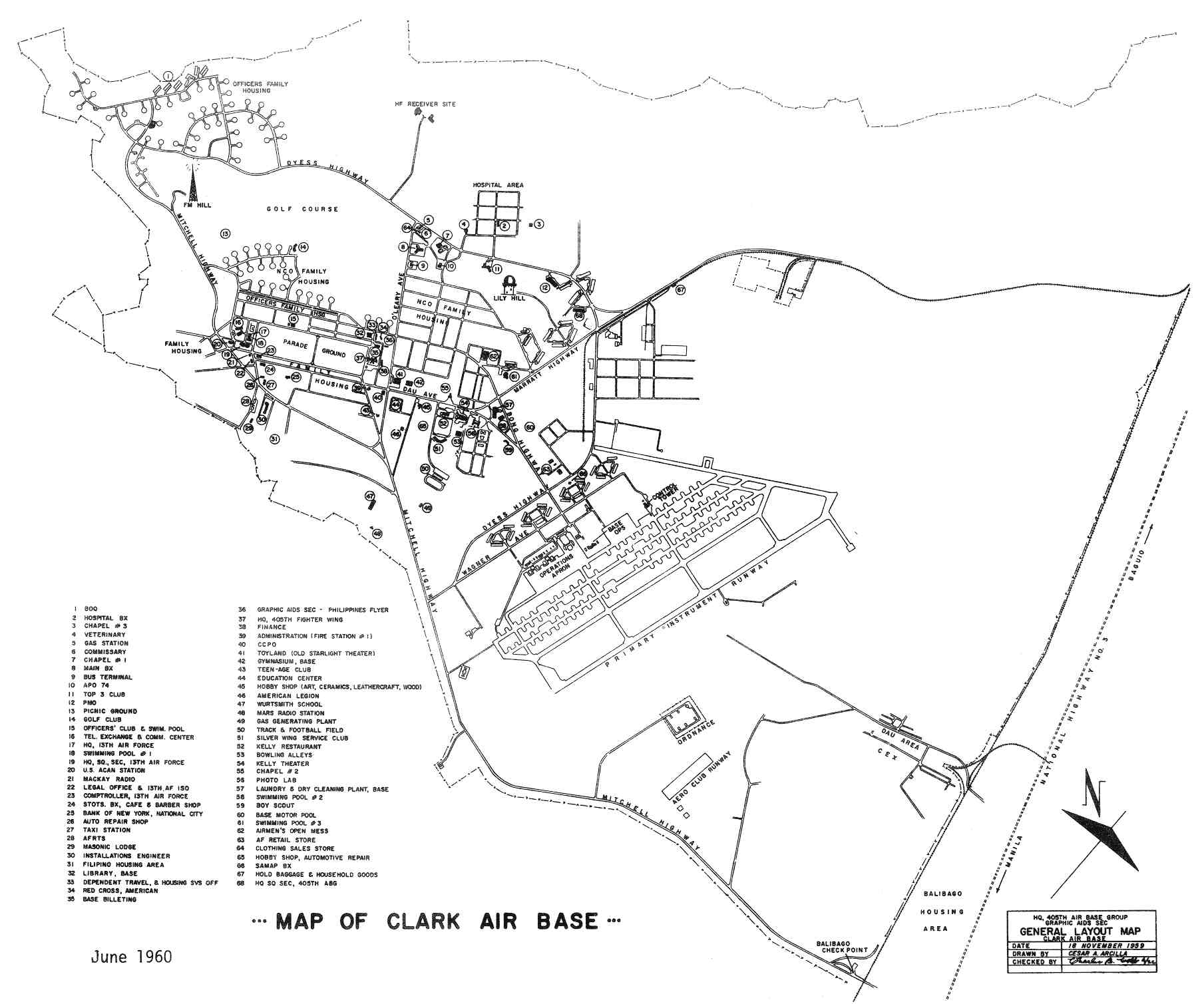 Philippines Clark Air Base Maps Charts And Blueprints