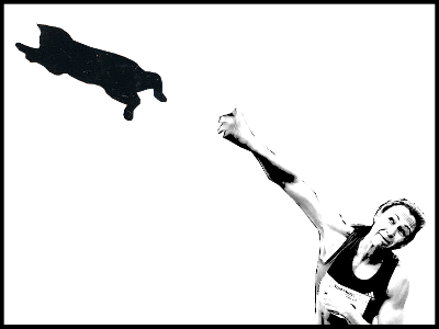 a woman and a cat
