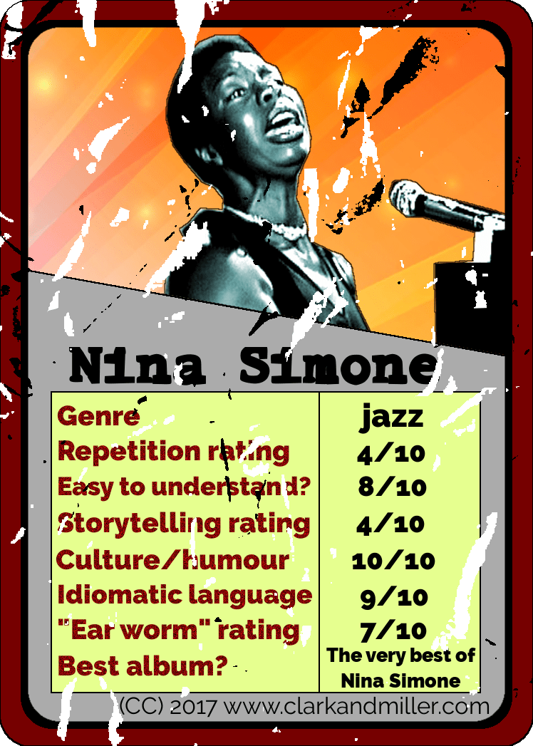 Nina Simone Top Trumps Card