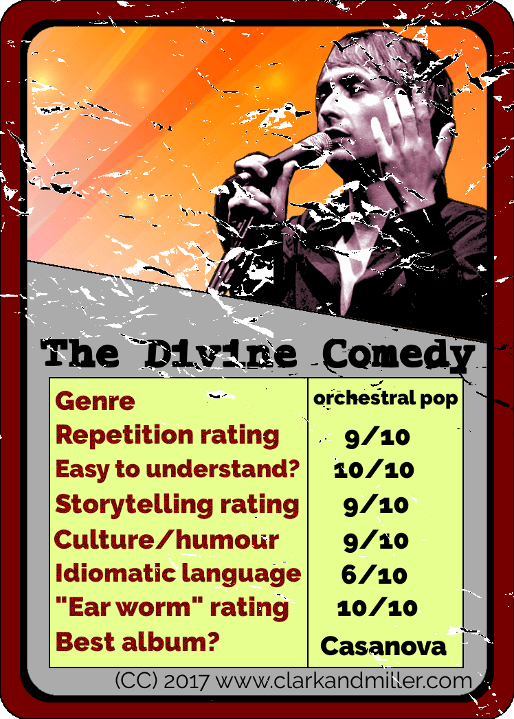 Divine Comedy Top Trumps Card