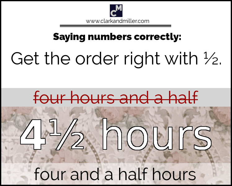 How to say half in English