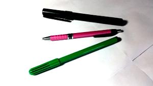 Pens: marker, ballpoint, felt-tip