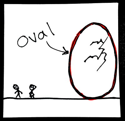 Shapes in English: oval