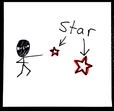 Shapes in English: star