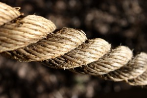 A piece of twisted rope