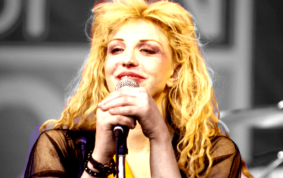 Courtney Love with bleached hair