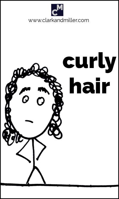 Stick figure with curly hair