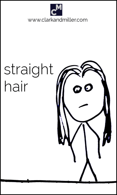 Stick figure with straight hair