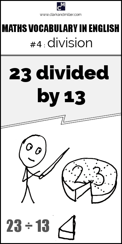 Division in English: how to use divide
