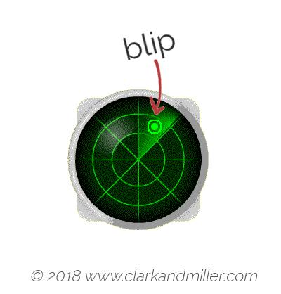 Blip: a radar display
