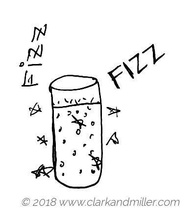 Fizz: a glass of soft drink