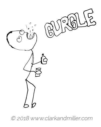 Gurgle: a man gargling